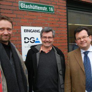 von links nach rechts: Stefan Braun Dietmar Nietan und Hans-Joachim Deutz